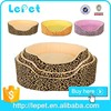 Leopard print warm cozy luxury pet dog bed wholesale