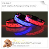 Kedge Designer LED pet collar with L.E.D Lighted dog collar