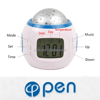 LED stars music projector clock