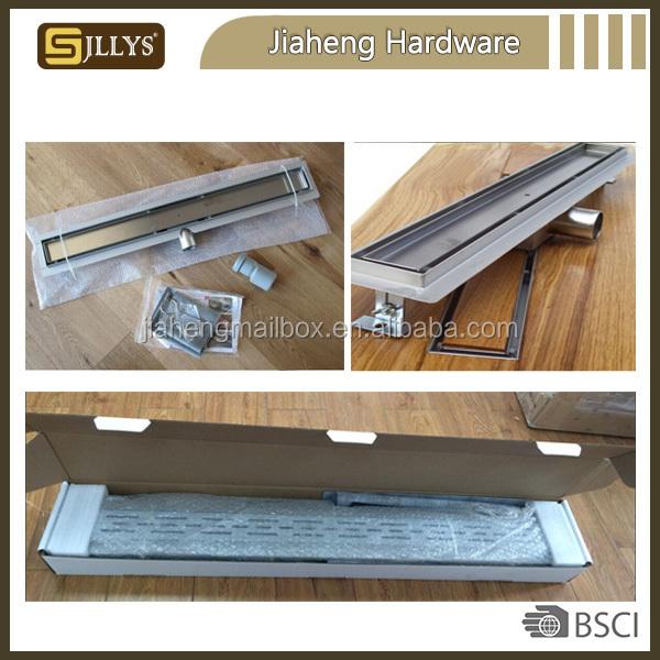 Stainless Steel Garage Sink : Long Linear Stainless Steel Bathroom Sink Part Garage Floor Drain ...