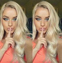 Charming Natural Blonde Full Lace Human Hair Wig