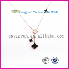 Amethyst black necklace drop necklace DIY charm Infinity chain necklace