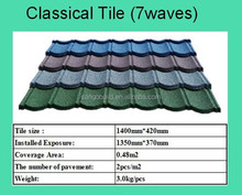 Color stone Coated Roofing Tile/Metal Roof Tile/Building Material for Roof Tile