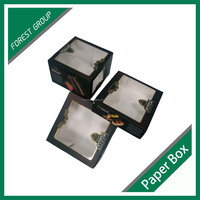 2015 HOT SALES CUTE PVC WINDOW GIFT CAKE PAPER BOX FOR FOOD CHINA MANUFACTURER