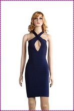 luxury women knee-length sexy dress elegant ladies zipper casual dress