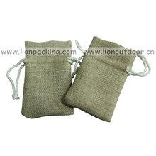 Vintage small burlap bag packing seeds