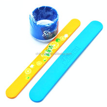 factory make 2015 custom kids silicone slap band