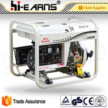 Hot sale! 3KVA electric open type air cooled diesel generator