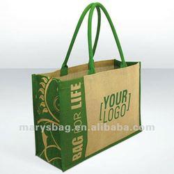 Jute Bag with Fern Design