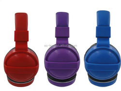 Promotion plastic headphones Headphone in plastic cases