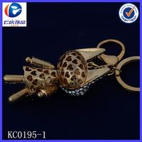 Novelty Creative Rocket shaped ears Fancy shaped Metal keychains