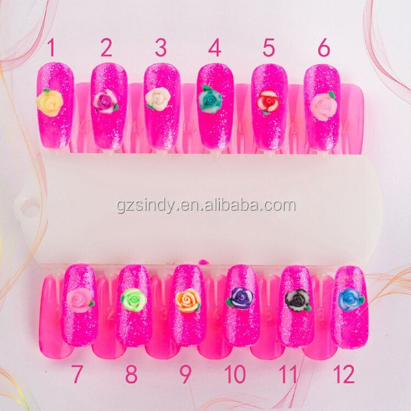 High Quality Easy Flower Nail Design,Polymer Clay 3d Silicone Nail ...