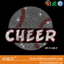 cheer iron on transfers wholesale basketball Rhinestone applique