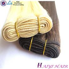 Raw virgin human hair extension european blonde virgin remy hair