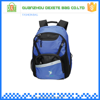 China wholesale bags polyester fabric blue kids school backpack