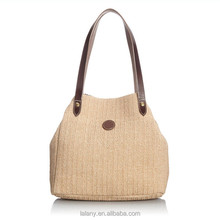 Lelany 2014 Korean style fashion women hobo bag straw bag making