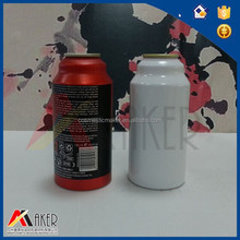 Red color printed aluminum bottle