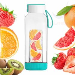 2016 Fashion Glass Water Bottle/ Infuser Fruit Water Bottle/ BPA Free Drinking Water Bottle