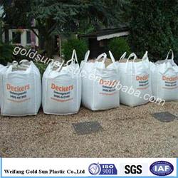 100% raw material 1000kg bulk bag 1 ton rice bag/pp jumbo bag china factory