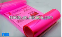 RoHS certificate Air free Bubbles 0.3*10m bright pink headlight car glass color change