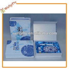 Blue and white porcelain set with usb,pen and mouse