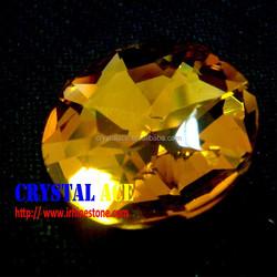 Gold gem glass stone,topaz point back rhinestone, jewelry glass stone