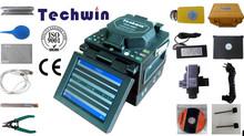 Fusionadora de Fibra Optica Splicing Machine Splicer Fusion Splicers TCW-605C with One Step Fiber Cleaver