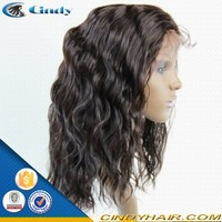 100% virgin indian natural looking black men fashion human hair lace front wigs