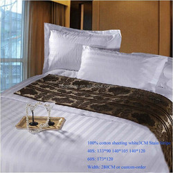 100% cotton hotel satin stripe bedding fabric 40S 60S