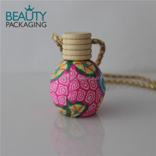 Clay Beautiful Hanging car perfume bottle with apple shape