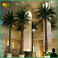 artificial palm tree with leaves