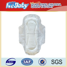 fujian hygiene supplier customized disposable soft day use winged sanitary pad
