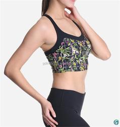 OEM costom high quality sportswear digital printing yoga bra new design for women