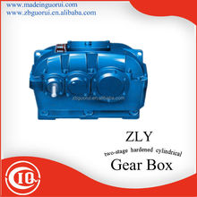 ZLY two stage gearbox /parallel gear 110v high torque low rpm electric motor machine for industrial machine design