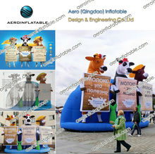 Inflatable cow for milk advertising / Inflatable animal