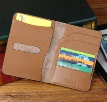 Artificial leather rfid blocking passport holder PU leather checkbook cover