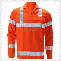 Anti- Electrical flame retardant with Anti-static reflective tape orange shirt