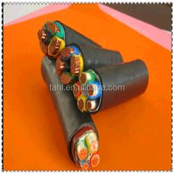 Semi-conducting compound + copper tape metallic screen 132KV High Voltage Power Cable