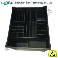 ESD black conductive box esd tray