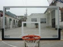 Toughened glass basketball backboard