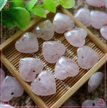 natural rose quartz heart pendant , crystal heart , rose quartz heart ,