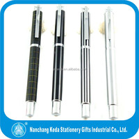 2014 new arrival stainless steel high quality good metal roller gift pen with different surface treatment