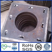 Steel Concret pile end plate in Square Shape