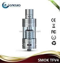 Newest Smoktech TFV4 top refill tank atomizer clearomizer with T1 T2 Q3 Q4 cores TC tank Furys tank