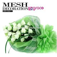 2014 Flor de plástico barata de alta calidad con malla