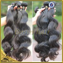 Wholesale double wefts shedding free 6A grade body wave rosa hair products
