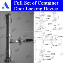 High quality container door locking device with galvanized and stainless steel