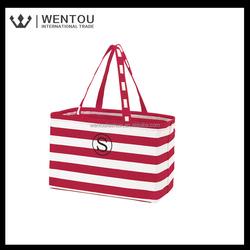 Hot sale Custom monogrammed Strip tote bag