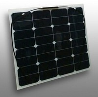 20% high efficiency 50W mono semi flexible solar panel
