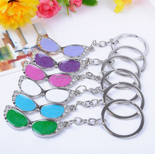 Custom shaped colorful enamel metal keyring